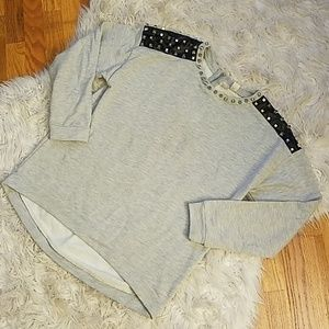 FORVER 21 EXCLUSIVE LEATHER STUDDED SWEATER